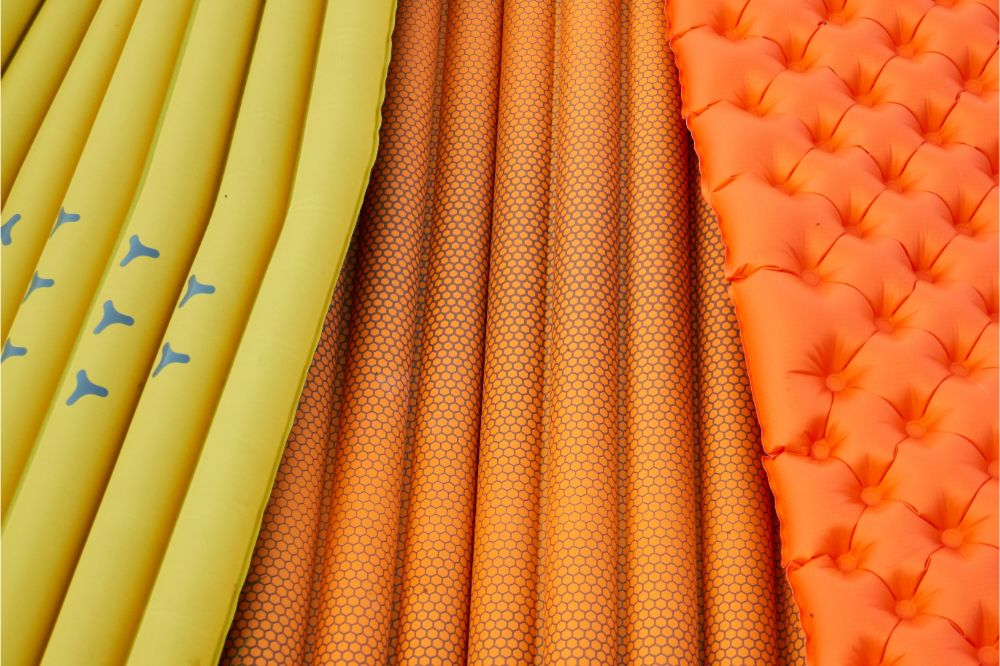 different color of sleeping pads